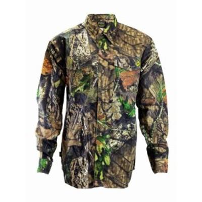 ファッション アウター ScentBlocker 7 Button Cotton Shirt Odor Control Chest Pockets