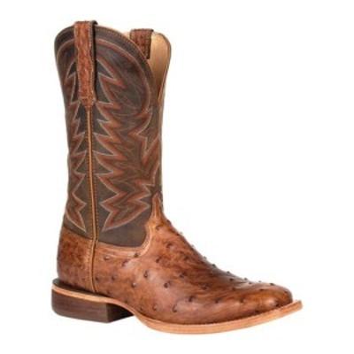 ヂュランゴ メンズ ブーツ&レインブーツ シューズ DDB0272 Exotic Full-Quill Ostrich Western Boot Sunset Wheat Ostrich/Full Grain L