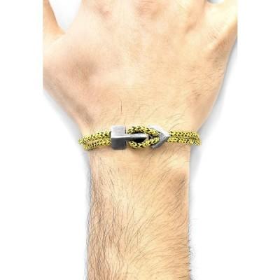 アンカーアンドクリュー ブレスレット・バングル・アンクレット メンズ アクセサリー BRIXHAM - Bracelet - yellow