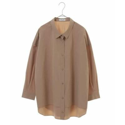 HIROKO BIS GRANDE / ヒロコビス グランデ 【洗濯機で洗える】オーバーサイズボタンダウンシャツ