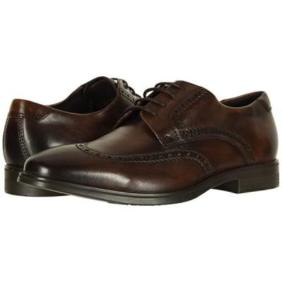 エコー Melbourne Wingtip Tie メンズ オックスフォード Cocoa Brown