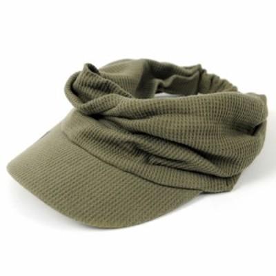 BIGWATCH正規品 大きいサイズ 帽子 メンズ サーマル ターバンバイザー ビッグワッチ/カーキ/サンバイザー/帽子/ターバン/ヘアバンド ゴ