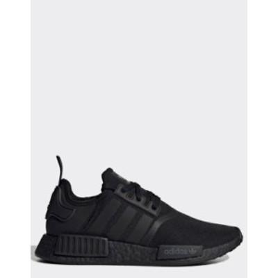 アディダス メンズ スニーカー シューズ adidas Originals NMD R1 sneakers in triple black Black