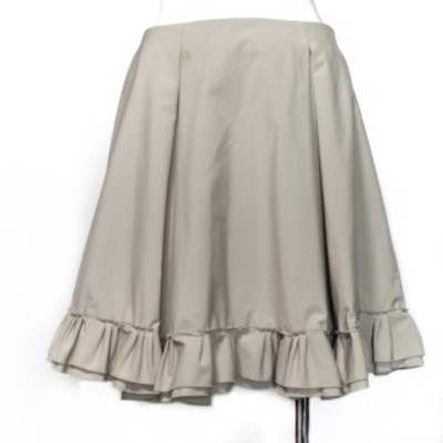 フォクシーニューヨーク FOXEY NEW YORK スカート サイズ40 M レディース ベージュ フリル【中古】20210619