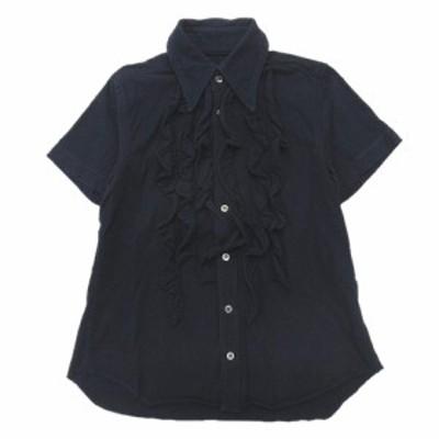 【中古】03SS トリココムデギャルソン tricot COMME des GARCONS フリル シャツ カットソー 半袖 オールド サイズS