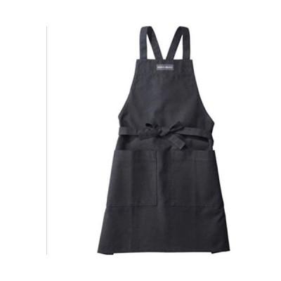 DEAN&DELUCA(ディーンアンドデルーカ)フルエプロン ブラック キッチン雑貨 (ブラック)