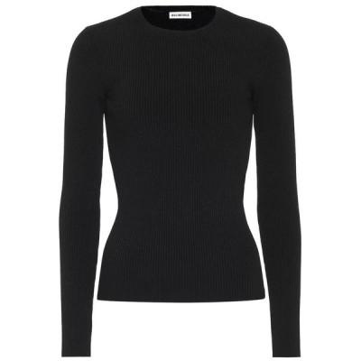 バレンシアガ Balenciaga レディース ニット・セーター トップス ribbed-knit top Black
