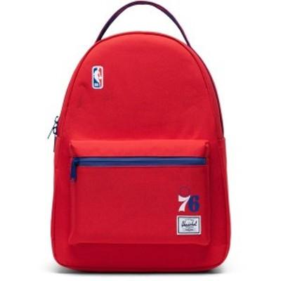 ハーシェルサプライ メンズ バックパック・リュックサック バッグ Philadelphia 76ers Herschel Supply Co. Nova Mid-Size Backpack