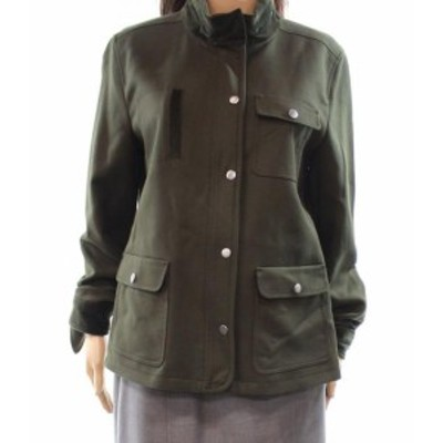 Nordstrom ノードストローム ファッション 衣類 Nordstrom NEW Green Womens Size XL Button-Zip Closure Mock Jacket