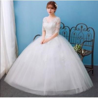 お呼ばれ ブライダル ワンピース 大きいサイズ 冠婚 ロング丈ワンピース 綺麗 きれいめ 結婚式 花嫁 パーティードレス プリンセスライン