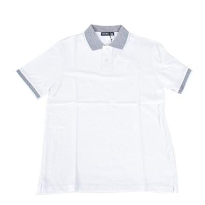 クリエイティブ99 半袖 コットン 鹿の子ポロシャツ CREATIVE99 50365 020 ホワイト メンズ