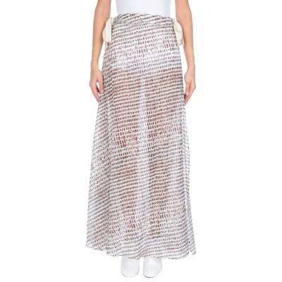 ON THE ISLAND by MARIOS SCHWAB ロングスカート ホワイト 42 レーヨン 100% ロングスカート