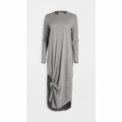 ザ グレート THE GREAT. レディース ワンピース ワンピース・ドレス Long Sleeve Knotted Tee Dress Heather Grey