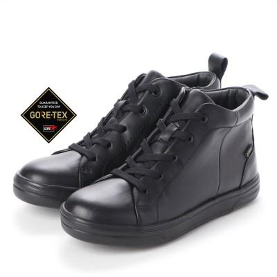 【GORE-TEX】 マドラスウォーク madras Walk 雨でも足首周りが濡れない♪  カジュアルの定番 ハイカットスニーカー MWL1003(ブラック)
