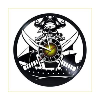 Toffy Workshop 海賊装飾ビニールレコード壁掛け時計 ? エキサイティングなゲストルーム装飾アイデア 子
