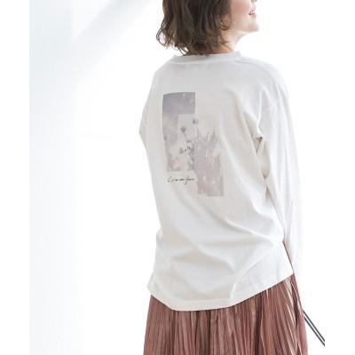 ロペピクニック/アソート柄ロングTシャツ/ホワイト系/38