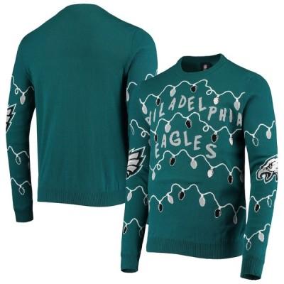 """メンズ セーター """"Philadelphia Eagles"""" FOCO Light-Up Ugly Sweater - Midnight Green"""