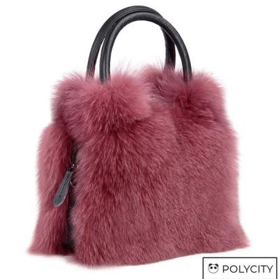 本革 レディースファーバッグ  本物のキツネ毛皮ハンドバッグ  肩掛け  斜め掛けバッグ 本物毛皮ショルダーバッグ  宴会バッグ  3色選択可能