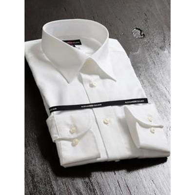 綿100%形態安定レギュラーフィットレギュラーカラー長袖ビジネスドレスシャツ