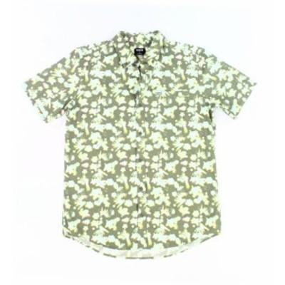 Hurley ハーレー ファッション アウター Hurley NEW Green Mens Size Large L Short Sleeve Button Down Shirt