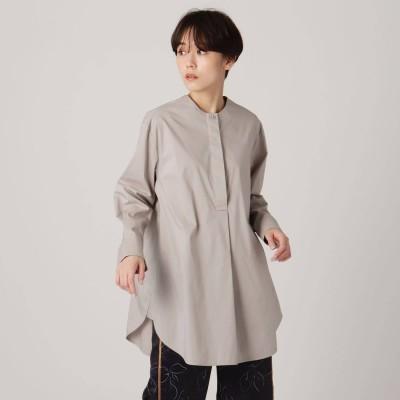 グローブ grove 【STYLE YOURSELF】Aラインロングシャツ (ライトグレー)
