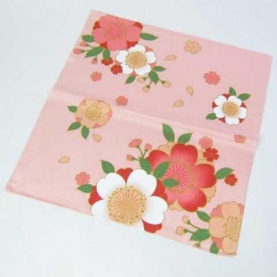 【和雑貨】季節◆桜◆さくら◆ちりめん◆小風呂敷◆ピンク◆壁掛け◆タペストリー furosiki7388