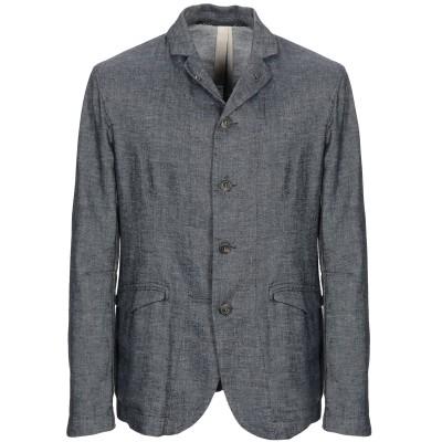 メッサジェリエ MESSAGERIE テーラードジャケット ブルーグレー 46 麻 54% / コットン 45% / シルク 1% テーラードジャケ