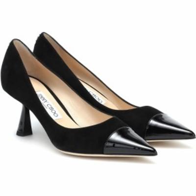 ジミー チュウ Jimmy Choo レディース パンプス シューズ・靴 Rene 65 suede and leather pumps Black