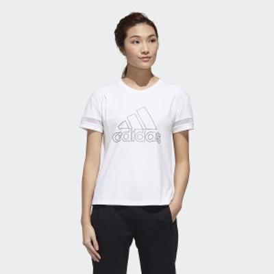 【セール】 アディダス レディーススポーツウェア Tシャツ W STYLE BOS GRFX Tシャツ 3218 GJ9022 レディース ホワイト