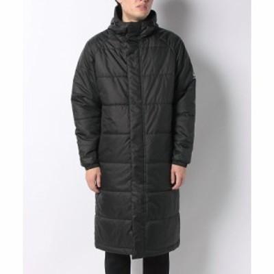 【セール】 アスフォーム メンズスポーツウェア 中綿ジャケット サーモライト中綿ロングコート AF-F20-010-059 メンズ ブラック