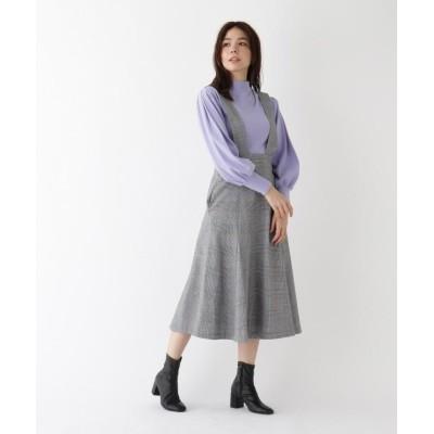 (AG by aquagirl/エージーバイアクアガール)【WEB限定Lサイズあり】カラーライングレンチェックジャンパースカート/レディース ブラック(219)