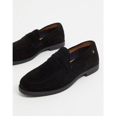 ファーラー Farah メンズ ローファー シューズ・靴 suede loafers in black ブラックスエード