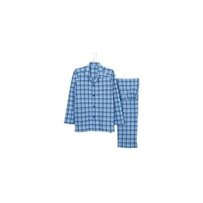 グンゼ 紳士用長袖パジャマ(秋冬用)LL ブルー C1342051