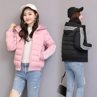 レディース コート ダウンコート フード付き 冬服 防寒着 アウター 中綿コート 中綿ジャケット ダウンジャケット 学生 通学 ショートコート 可愛い 暖かい