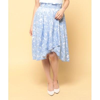 【エリザ】 ランダムドットプリントスカート レディース サックス 1号(7号) ELISA