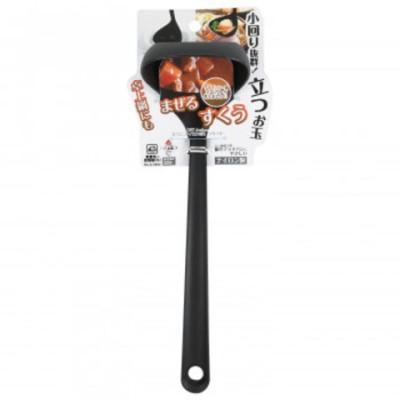 パール金属 BiT Action 立つミニナイロンお玉 ブラック G-5002  調理 製菓道具[▲][AB]