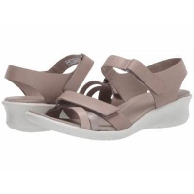 ECCO エコー レディース 女性用 シューズ 靴 ヒール Felicia Ankle Strap Sandal Grey Rose/Mon Rock Silver/Moon Rock Calf【送料無料】