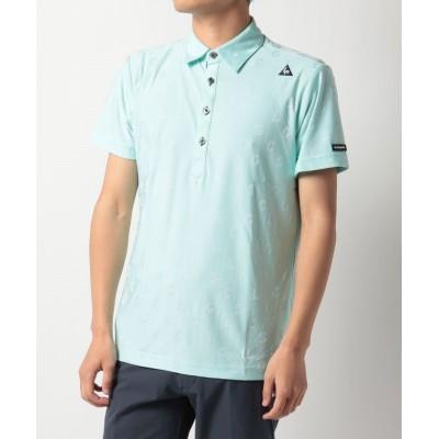 (le coq sportif GOLF/ルコックスポルティフゴルフ)タイポジャガード柄半袖シャツ/メンズ エメラルド系