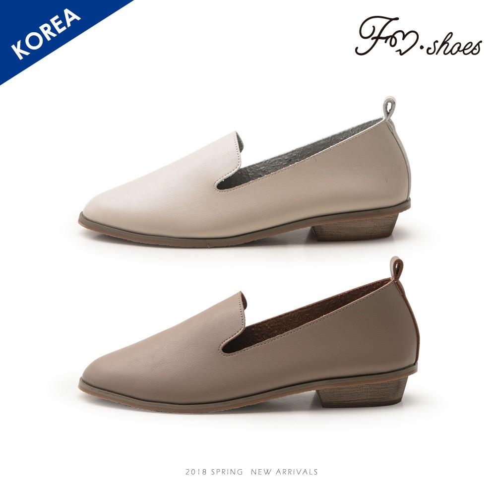 FMSHOES 韓-軟革素面樂福鞋-00006699