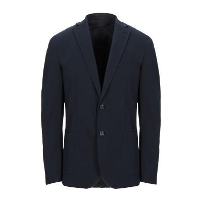 FB FASHION テーラードジャケット ダークブルー 52 コットン 65% / ナイロン 30% / ポリウレタン 5% テーラードジャケット