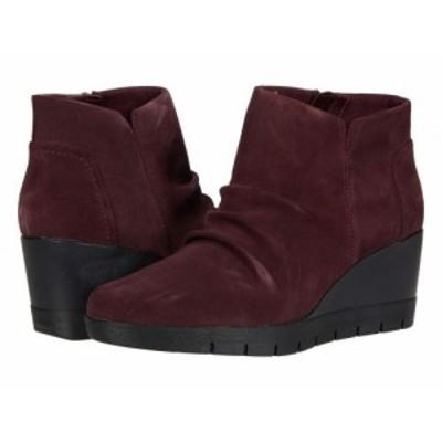 Clarks クラークス レディース 女性用 シューズ 靴 ブーツ アンクル ショートブーツ Madera Way Burgundy Suede【送料無料】