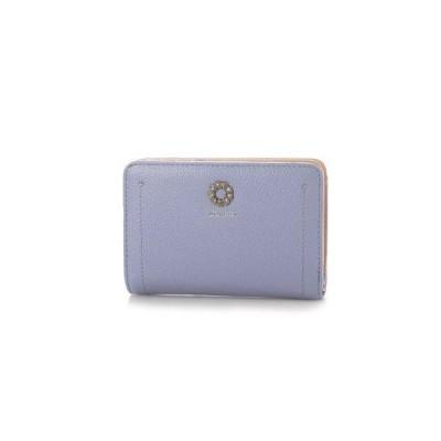 ミッシュマッシュ MISCH MASCH プリマ アオリ付きラウンドファスナー二つ折り財布 (パープル)