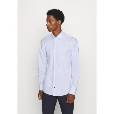トミー ヒルフィガー シャツ メンズ トップス STRIPE CLASSIC SLIM - Formal shirt - blue
