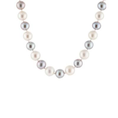 スプレンデッドパールズ ネックレス・チョーカー・ペンダントトップ アクセサリー レディース Splendid Pearls Rhodium Over Silver 11-12mm Pearl Necklace -