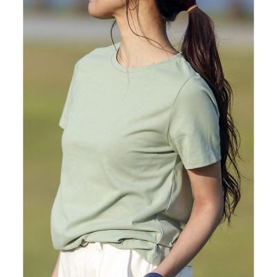 tシャツ Tシャツ コットンブレンド天竺 汗染み防止加工クルーネックTシャツ