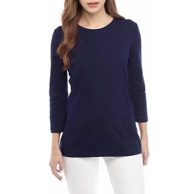 キム ロジャース レディース Tシャツ トップス 3/4 Sleeve Solid Top