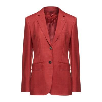 マックスマーラ MAX MARA テーラードジャケット レッド 42 バージンウール 55% / シルク 25% / モヘヤ 15% / リネン 5
