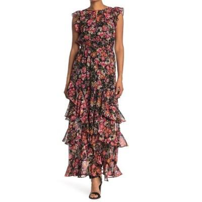 ライチェルレイチェルロイ レディース ワンピース トップス Issa Floral Ruffled Maxi Dress BLACK COMBO