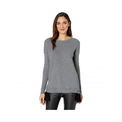 kensie ケンジー レディース 女性用 ファッション セーター Fuzzy Viscose Blend Sweatshirt KS1K5930 - Heather Steel