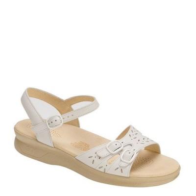 エスエーエス レディース サンダル シューズ Duo Leather Wedge Sandals White